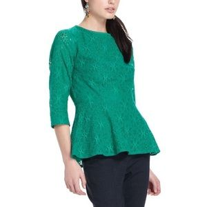 Anthropologie Moulinette souers peplum top.